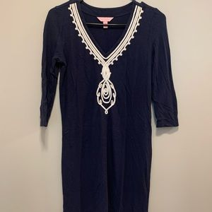Navy Blue Lilly Pulitzer Dress!